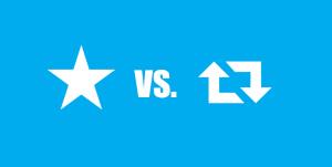 Favourite icon vs. Retweet icon