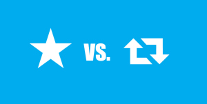 Favourite icon vs. Retweet icon